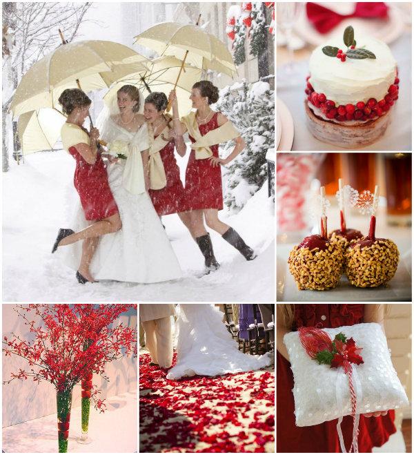 Weisse Weihnachten Hochzeit Inspiration Rot Und Grun Hochzeitsdeko